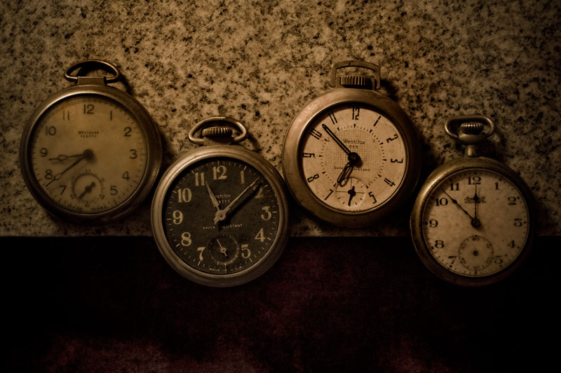 Four Pocket Watches in a Row (Row and Number Series)