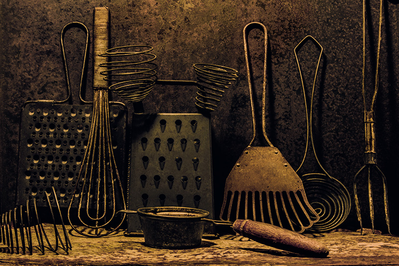 Numbers Series #3: Number 10 (#2): Ten Kitchen Implements