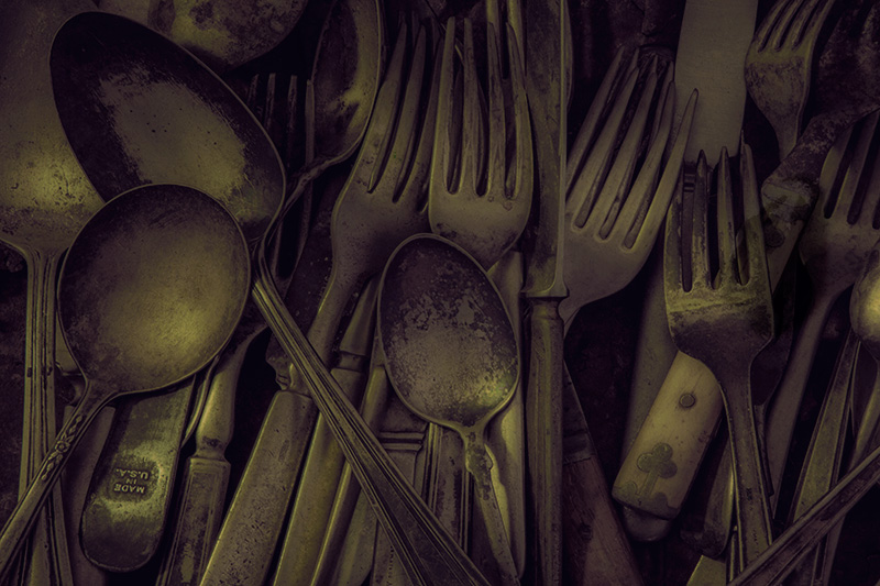 Numbers Series #3: Number 13: Lots of Silverware