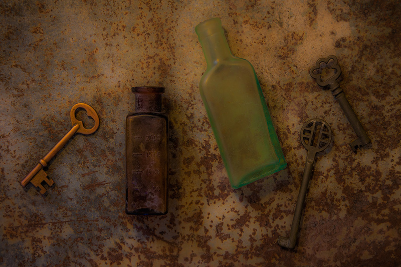 Three Keys & Two Bottles